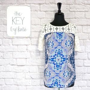 Anthropologie Akemi + Kin Maite Printed Tunic Top